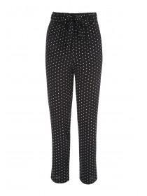 Womens Monochrome Spot Slim Trousers