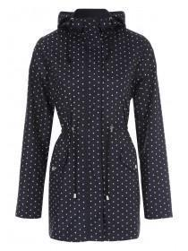 Womens Monochrome Spot Mac Coat