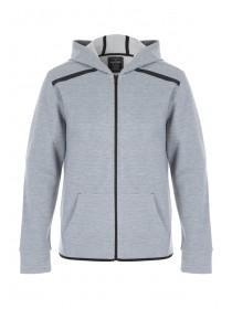 Mens Grey Zip Up Hoody