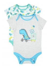 Baby Boys 2pk Dinosaur Bodysuits
