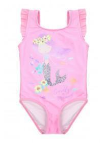 Younger Girls Pink Mermaid Swimsuit