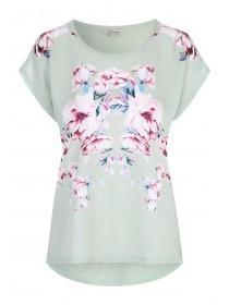Womens Mint Green Floral Top
