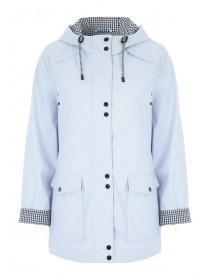 Womens Light Blue Mac Jacket