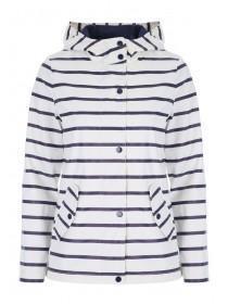 Womens Blue Stripe Mac Jacket