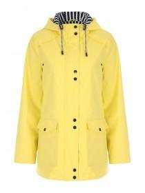 Womens Yellow Mac Coat