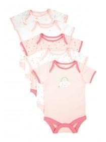 Baby Girls 5pk Pink Bodysuits