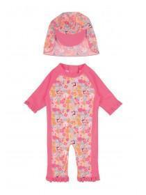Baby Girls Pink Sun Safe Swim Set