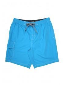 Mens Plain Cargo Swim Shorts