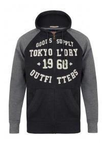 Mens Tokyo Laundry Contrast Sleeve Hoodie