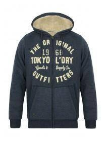Mens Tokyo Laundry Borg Lined Zip Up Hoody
