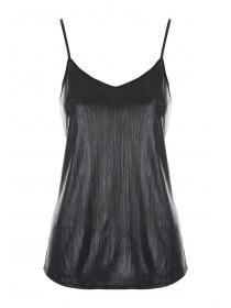 Womens ENVY Black Foil Cami