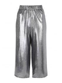 Womens ENVY Silver Foil Culotte Trousers