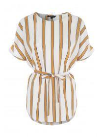 Womens Mustard Stripe Tunic Top