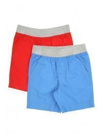 Younger Boys 2pk Poplin Shorts