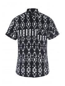 Mens Monochrome Ink Print Shirt