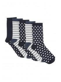 Womens 5pk Navy Socks
