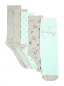 Womens 5pk Aqua Socks