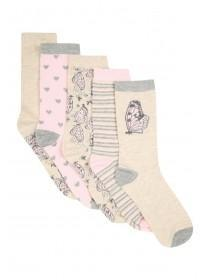 Womens 5pk Butterfly Socks