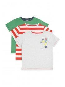 Younger Boys 3pk Monster T-Shirts