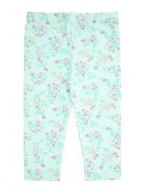 Baby Girls Mint Floral Leggings