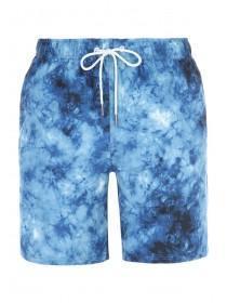 Mens Blue Marble Swim Shorts