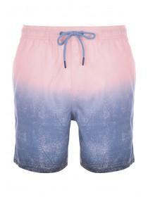 Mens Pink and Blue Dip Dye Swimshorts