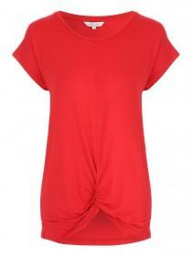 Womens Red Knot Front T-Shirt