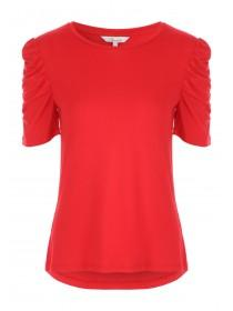 Womens Ruched Sleeves Tee