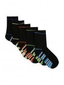 Boys 5pk Stripe Socks