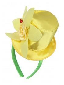 Girls Yellow Daffodil Top Hat