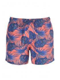Mens Coral Tropical Swim Shorts