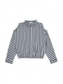 Older Girls Monochrome Check Shirt
