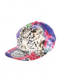 Older Girls Multicolour Leopard Snapback Hat