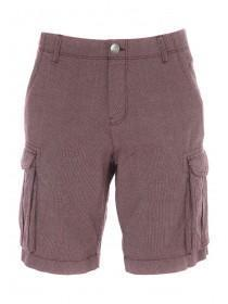 Mens Wine Red Cargo Shorts