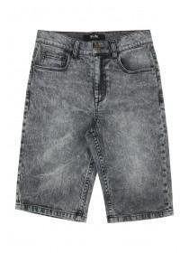 Older Boys Grey Acid Wash Shorts