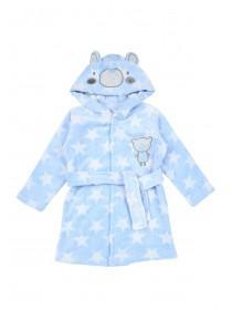 Baby Boys Blue Star Bear Dressing Gown