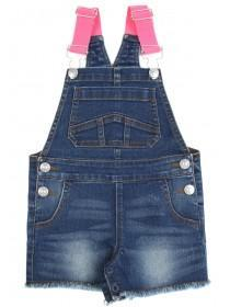 Younger Girls Blue Denim Dungarees