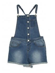Older Girls Blue Denim Dungarees