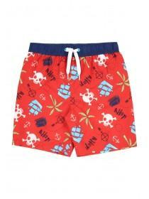 Younger Boys Red Pirate Boardshorts