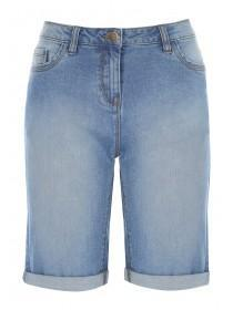 Womens Blue Denim Shorts