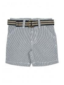 Younger Boys Blue Striped Belted Shorts