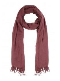 Womens Burgundy Plain Scarf