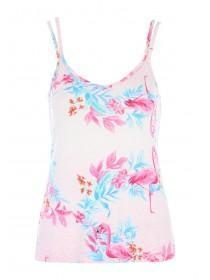 Womens Pink Flamingo Cami Lounge Top