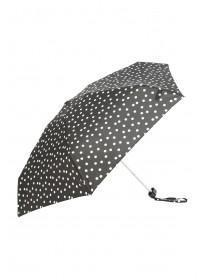 Womens Monochrome Spot Mini Umbrella