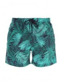 Mens Green Tropical Swim Shorts