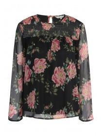 Womens Floral Layered Top