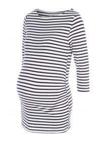 Maternity Blue Stripe Top