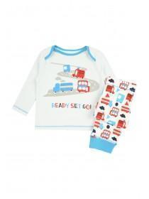 Baby Boys Blue Cars Pyjama Set