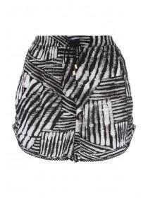 Womens Monochrome Aztec Print Shorts