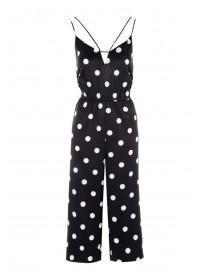 Womens Monochrome Spot Jumpsuit